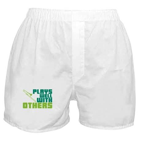 Trombone Plays Well Boxer Shorts