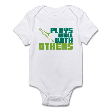 Trombone Plays Well Infant Bodysuit