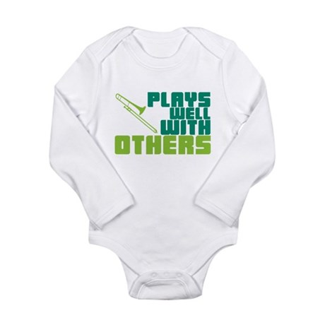 Trombone Plays Well Long Sleeve Infant Bodysuit