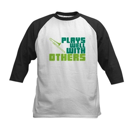 Trombone Plays Well Kids Baseball Jersey