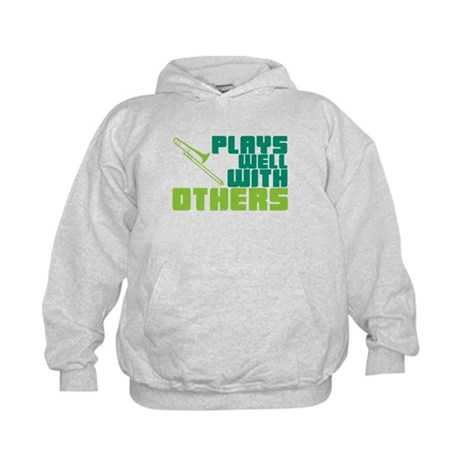 Trombone Plays Well Kids Hoodie