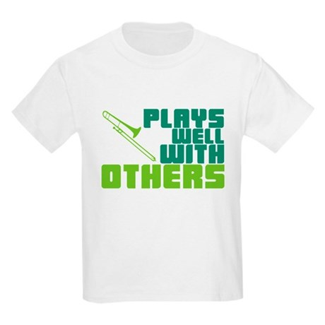 Trombone Plays Well Kids Light T-Shirt