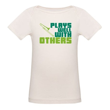 Trombone Plays Well Organic Baby T-Shirt