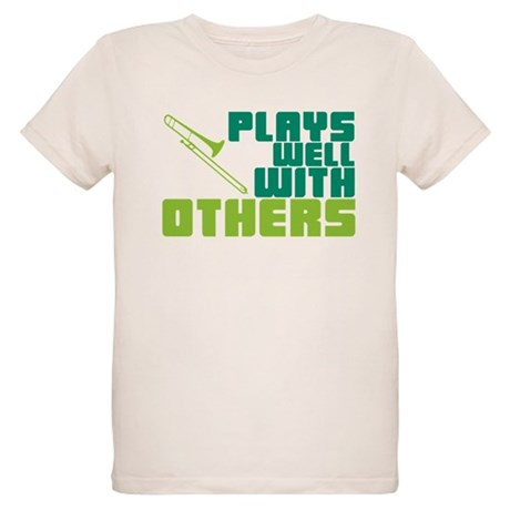 Trombone Plays Well Organic Kids T-Shirt