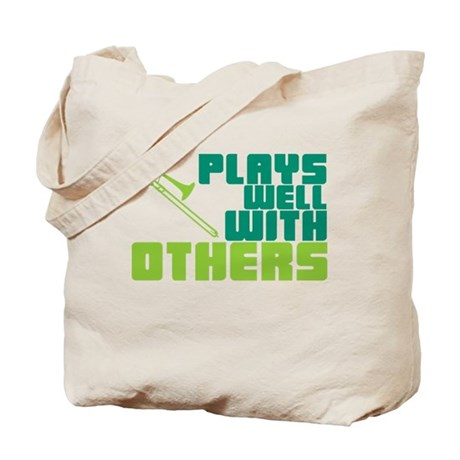 Trombone Plays Well Tote Bag