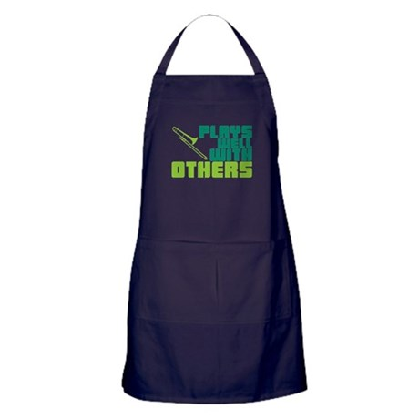 Trombone Plays Well Apron (dark)