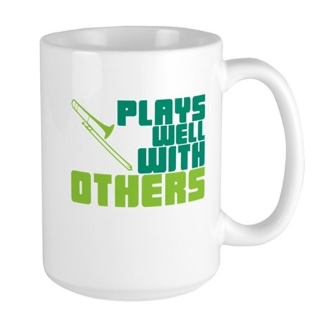 Trombone Plays Well Large Mug