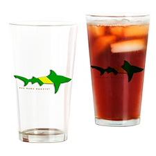 Shark Nitrox Diving Flag Drinking Glass