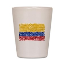 Textual Colombia Shot Glass