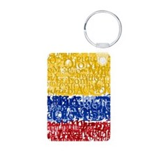 Textual Colombia Keychains
