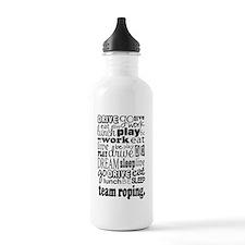 Team Roping Gift Water Bottle