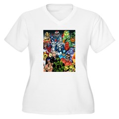 Heroes of The Infiniverse Women's Plus Size V-Neck