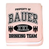 Bauer German Drinking Team baby blanket