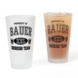 Bauer German Drinking Team Drinking Glass