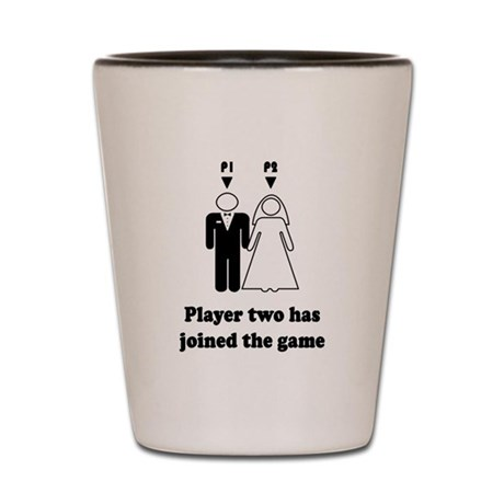 Player Two Shot Glass