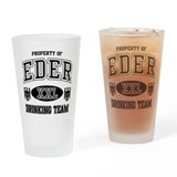 Eder German Drinking Team Drinking Glass