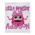 Little Monster Addison Throw Blanket
