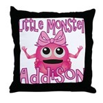 Little Monster Addison Throw Pillow