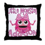 Little Monster Addison Throw Pillow
