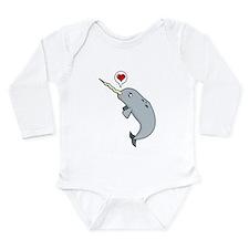 Narwhal Love Long Sleeve Infant Bodysuit