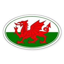 Wales UK Oval Decal