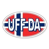 UFF DA - Oval Decal