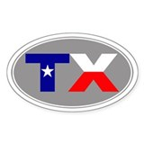 Texas Oval Decal