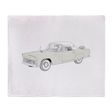 Ford Thunderbird 1956 -colore Throw Blanket