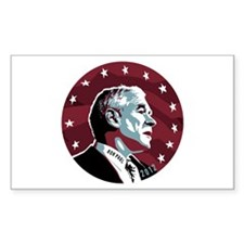 Ron Paul Circle Sticker (Rectangle)