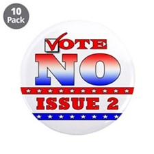 "NO on Issue 2 3.5"" Button (10 pack)"