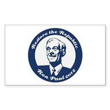 Ron Paul Republic Circle Sticker (Rectangle)