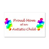 Autism Mom Car Magnet 20 x 12