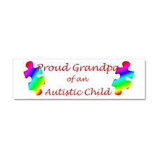 Autism Grandpa Car Magnet 10 x 3