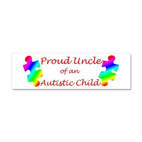 Autism Uncle Car Magnet 10 x 3