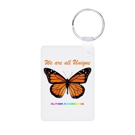 Butterfly: Autism Awareness Aluminum Photo Keychai