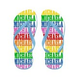 Cute Michaela name Flip Flops