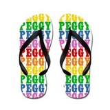 Cute Peggy name Flip Flops