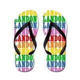 Cute Landon name Flip Flops