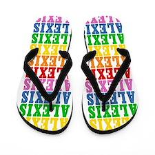 Cute Alexis name Flip Flops