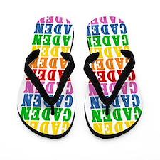 Funny Caden Flip Flops