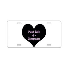 Cute Chiropractic health Aluminum License Plate