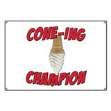 Cone-Ing Champion Ice Cream Banner