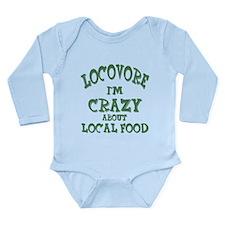 Cute Localvore Long Sleeve Infant Bodysuit