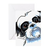 B/W Shih Tzu Art Greeting Card