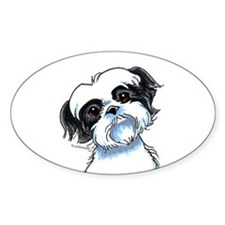 B/W Shih Tzu Art Decal