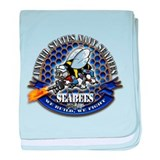 USN Navy Seabees Bee We Build baby blanket