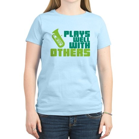 Tuba Plays Well Women's Light T-Shirt