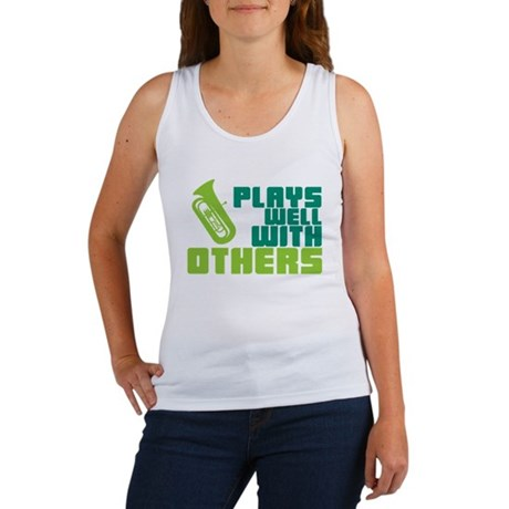Tuba Plays Well Women's Tank Top