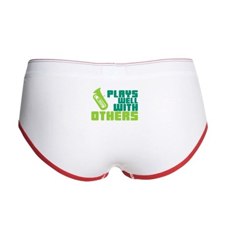 Tuba Plays Well Women's Boy Brief