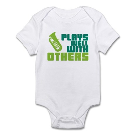 Tuba Plays Well Infant Bodysuit